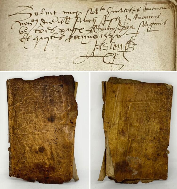 Renaissance Manuscript Financial Notary Book Account Journal 15th 16th Century