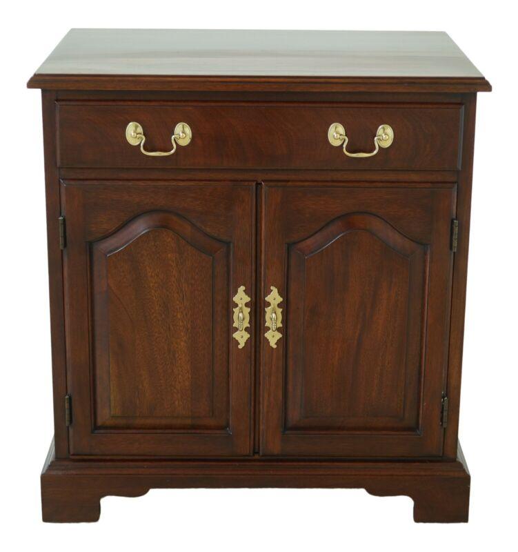 25714EC: HENKEL HARRIS Mahogany 2 Door Nightstand End Table