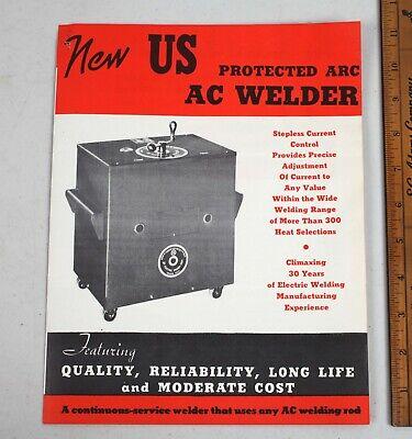 Vintage Us Protected Arc Ac Electric Welder Corp. Brochure Toledo Ohio