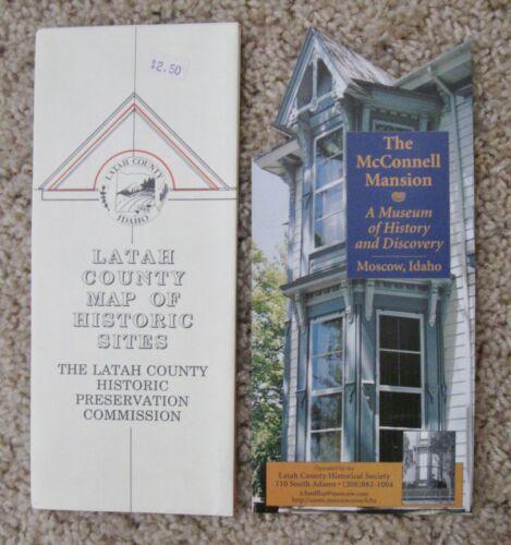NOS 1993 LATAH COUNTY, IDAHO, Map of HISTORIC SITES; U/Idaho & McConnell Mansion
