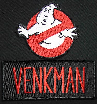 GHOSTBUSTERS NO GHOST VENKMAN MURRAY HALLOWEEN COSTUME IRON ON 2 PATCH - Movie Set On Halloween