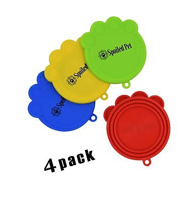 Pet Food Can Lids - Silicone Covers for Cat and Dog Canned Food... Free Shipping