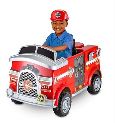 Paw Patrol Fire Dog (Paw Patrol Fire Truck Ride On Marshall Rescue Dog Helmet Shovel Extinguisher)