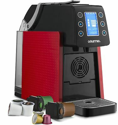 Gourmia GCM5100R One With Multi Capsule Coffee Machine, Nespresso, K-Cup, Red