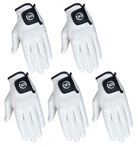 SG 5 Men 100% Cabretta Leather Golf gloves both hand gloves All sizes available