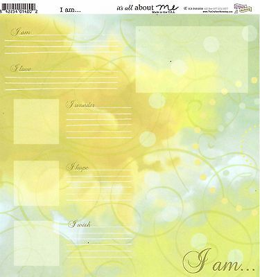 CW - All About Me Scrapbooking Paper - Baby, Grandfather, Grandma - All About Me Paper