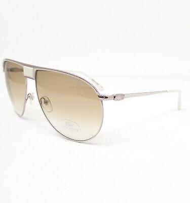 LACOSTE Sunglasses L199S 105 White Aviator Unisex (Lacoste Aviators)