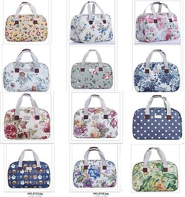 Gym Tote Bag (Lady Owl Floral Weekender Gym Swimming Oilcloth Holiday Tote Bag Florence Happy)