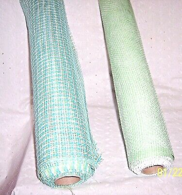 Paper Mesh Rolls (PAPER MESH ROLL GREEN & WHITE - GREEN & BLUE OR 15 FEET - YOU)