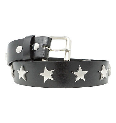 MENS SILVER STAR STUD BELT STAR SPANGLED HOT TOPIC REMOVABLE - Mens Rivet