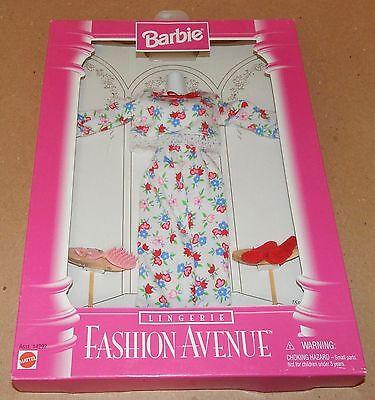 Barbie Fashion Avenue Collection Real Clothes Lingerie Mattel 14292 NIB 96 121D