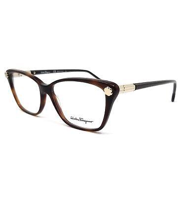 Salvatore Ferragamo Eyeglasses SF2824 214 Tortoise Cat Eye Women 54x14x140