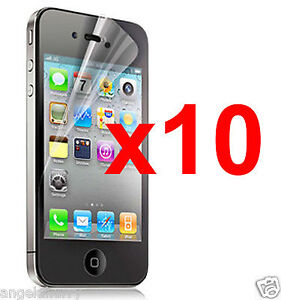 10-xApple-iPhone-4-4S-Anti-glare-Matt-Matte-Screen-Protector-Guard-Clean-Cloth