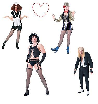 Womens Mens Adult Rocky Horror Show Outfit Costumes Fancy Dress Halloween