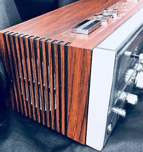 Vintage alarm clock radio Yorx AM FM quartz Headphone jack works