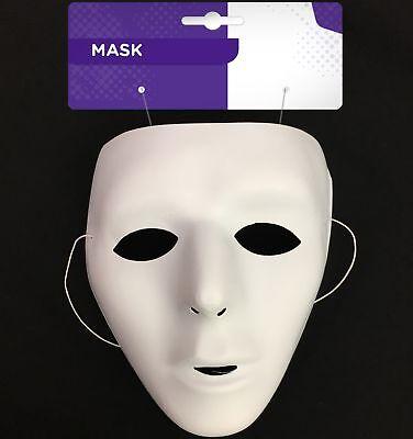 Maskerade Masken Weiß (Halloween Maskerade Einfach Weiß Blasen Maske Maskenkostüm Cosplay)