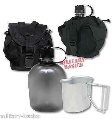 Feldflasche Gen.II Molle Canteen cup Feldflaschenbecher schwarz NEU