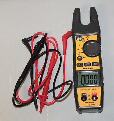 Ideal 61-405 True Rms Split Jaw Meter W Flashlight