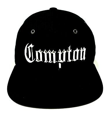 06540d00310f0d Used, COMPTON CA City Snapback Cap Hat Los Angeles California OSFM NWT  Metal Silver for