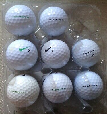 40 Nike PD Soft Golf Balls Mint/Pearl Grade