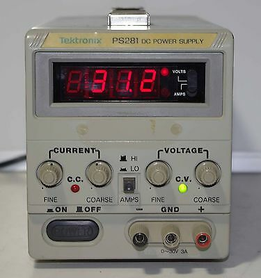 Tektronix Ps281 Dc Power Supply 30v 3a
