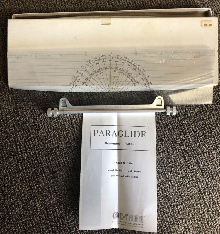 Vintage C Thru Paraglide Protractor Plotter Model 1451 Nautical Status Ruler