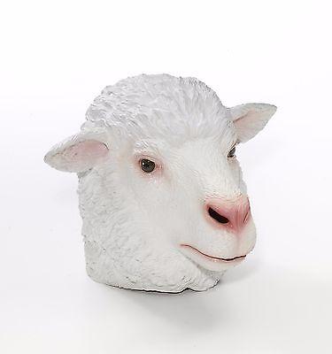 Lamb Mask Sheep Animal White Halloween Dress Up FULL Latex Face One Size NEW