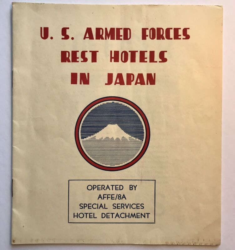 US Armed Forces Rest Hotels In Japan Special Services & Train Map Information