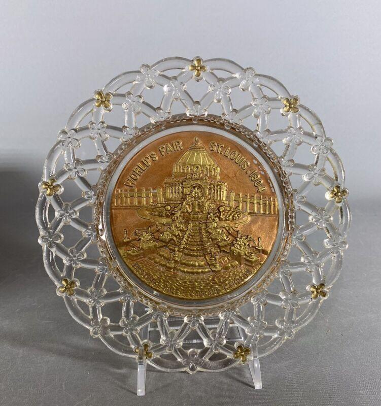 Antique Goofus Glass 1904 St Louis World's Fair Plate