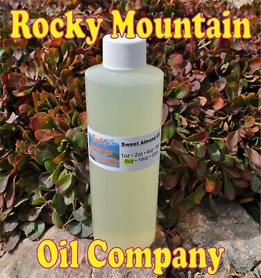 PURE ORGANIC SWEET ALMOND OIL COLD PRESSED REFINED 2 16 32 oz Gallon HAIR SKIN