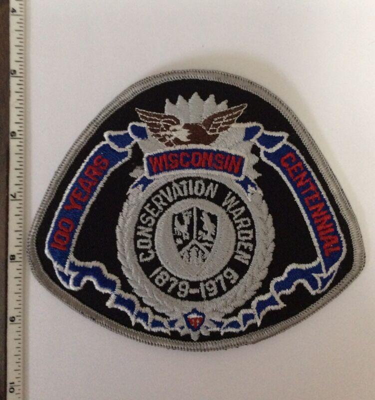 Wisconsin DNR Conservation Warden 100 Yr Centennial Police Shoulder Patch New