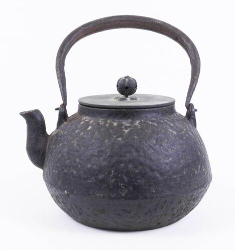 Antique Ryubundo Japanese Bronze Lid Tetsubin Iron Teapot or Kettle