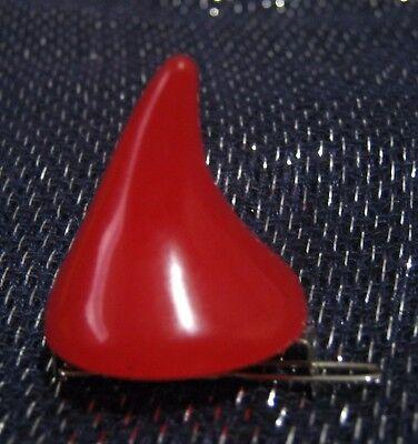 Fun single Halloween red devil horn hair clip