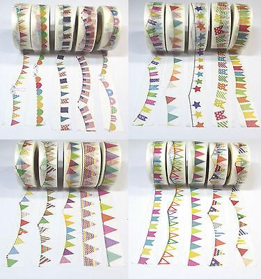 pe Klebeband Reispapier Basteln Girlande Wimpel Motive DIY  (Masking Tape)