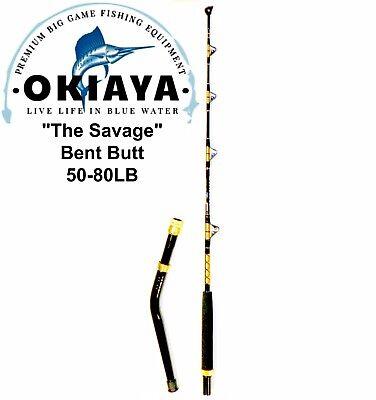"OKIAYA  ""THE SAVAGE"" 50-80lb Bent Butt Saltwater Roller Rod 5'6"""
