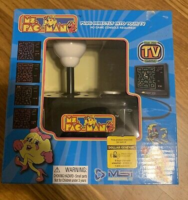 VTG Ms. Pac-Man Plug and Play Classic Arcade TV Game MSi Entertainment NIB 1993