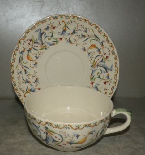 NEW  Breakfast Cup & Saucer Toscana Pattern From GIEN