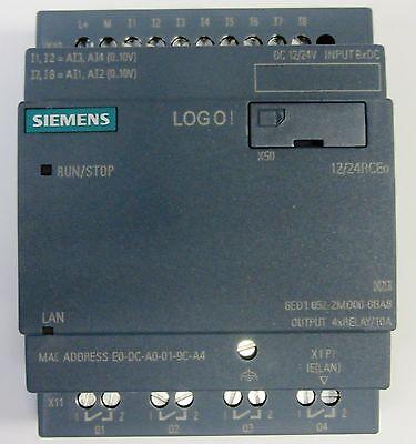 Siemens LOGO Modul 6ED1 052-2MD00-0BA8 12/24 VDC (für TDE) 8 Ein 4 Relais FS:04