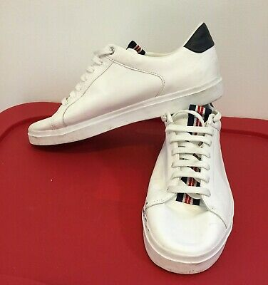Zara 2223/002/001 Men's White Sneakers Shoes with Middle Strap Size EUR 43
