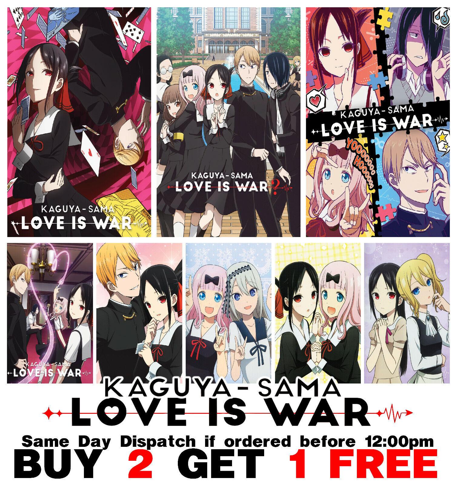 Kaguya Sama Love is War Poster Anime Manga Art Print Wall Home Room Decor Anime
