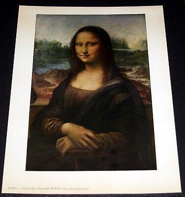 "OLD ART PRINT, ""MONA LISA"", BY LEONARDO DA VINCI!"