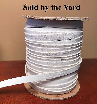 WHITE Kangaroo Leather Lacing in 1/4 Inch (6mm) Width - SOLD BY THE YARD