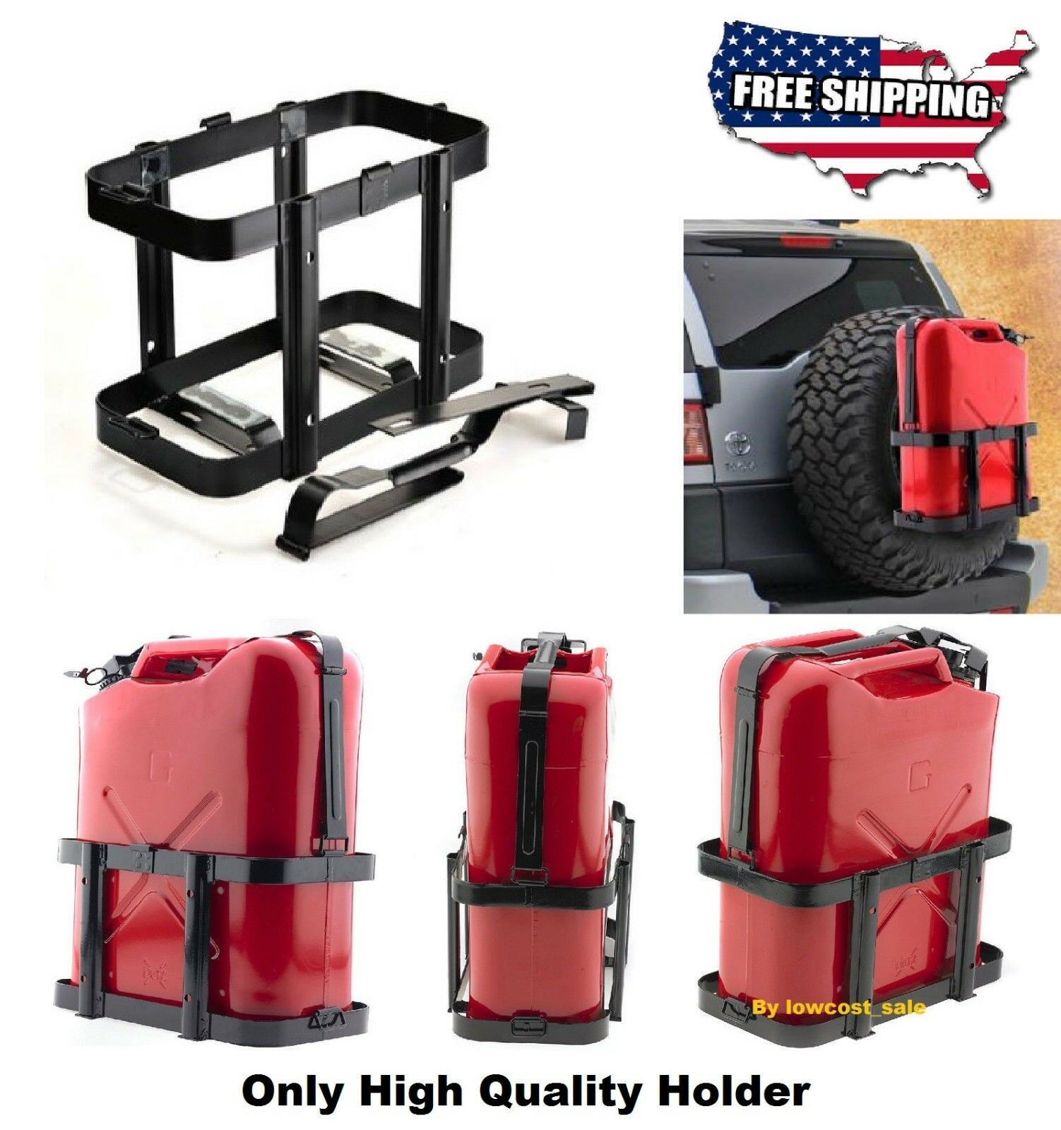 Jerry Can 5 Gallon 20L Gas Gasoline Fuel Army NATO Metal Steel Tank Holder