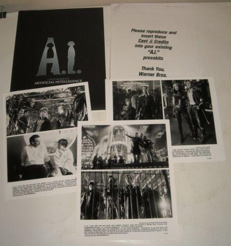 2001 STEVEN SPIELBERG A.I PROMO MOVIE PRESS KIT 3 PHOTOS HALEY JOEL OSMENT