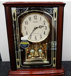 RHYTHM MANTEL CLOCK: CRH226NR06- SAVANNAH WITH 16 MELODIES + 3 CHRISTMAS SONGS