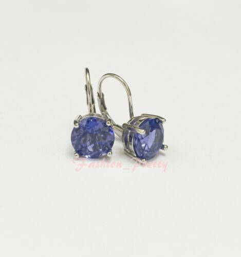 New Arrived!! Pretty 5 Carat Created Tanzanite Drop Earrings In Sterling Silver