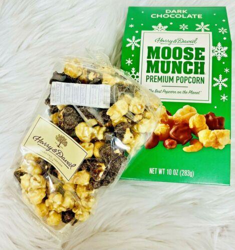 HARRY AND DAVID MOOSE MUNCH PREMIUM POPCORN THE BEST POPCORN DARK CHOCOLATE-T5