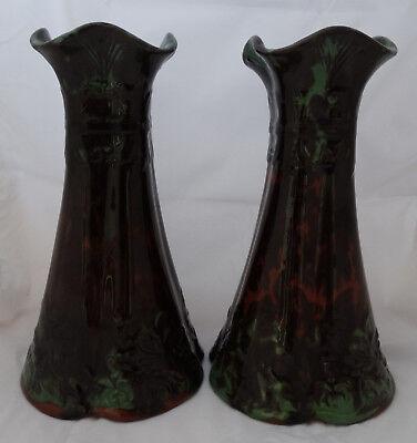 Torquay Ware Quarto Foil Vases