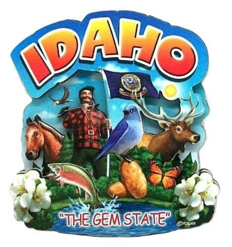 Idaho the Gem State Artwood Montage Fridge Magnet