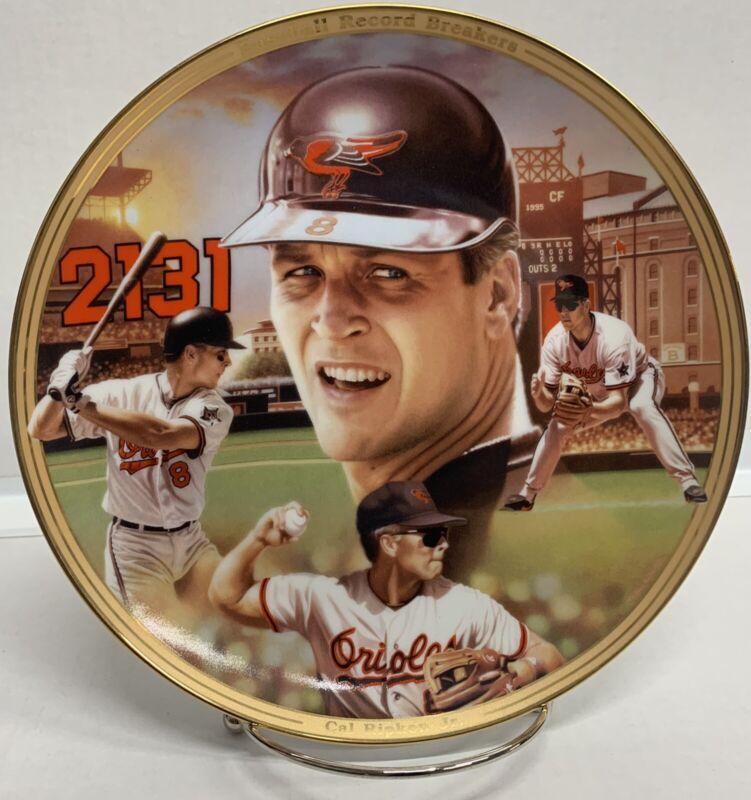 Cal Ripken Jr Baseball Record Breakers Bradford Exchange Plate with COA & PKG